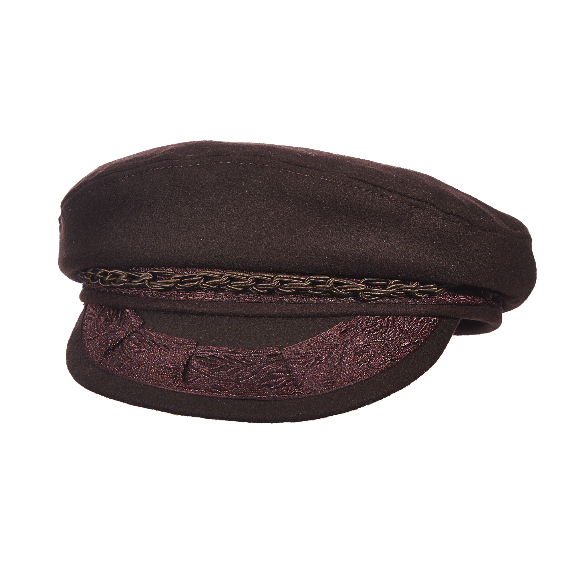 Image of Aegean Size 6 7/8 Mens Greek Wool Fishermans Hat, Brown