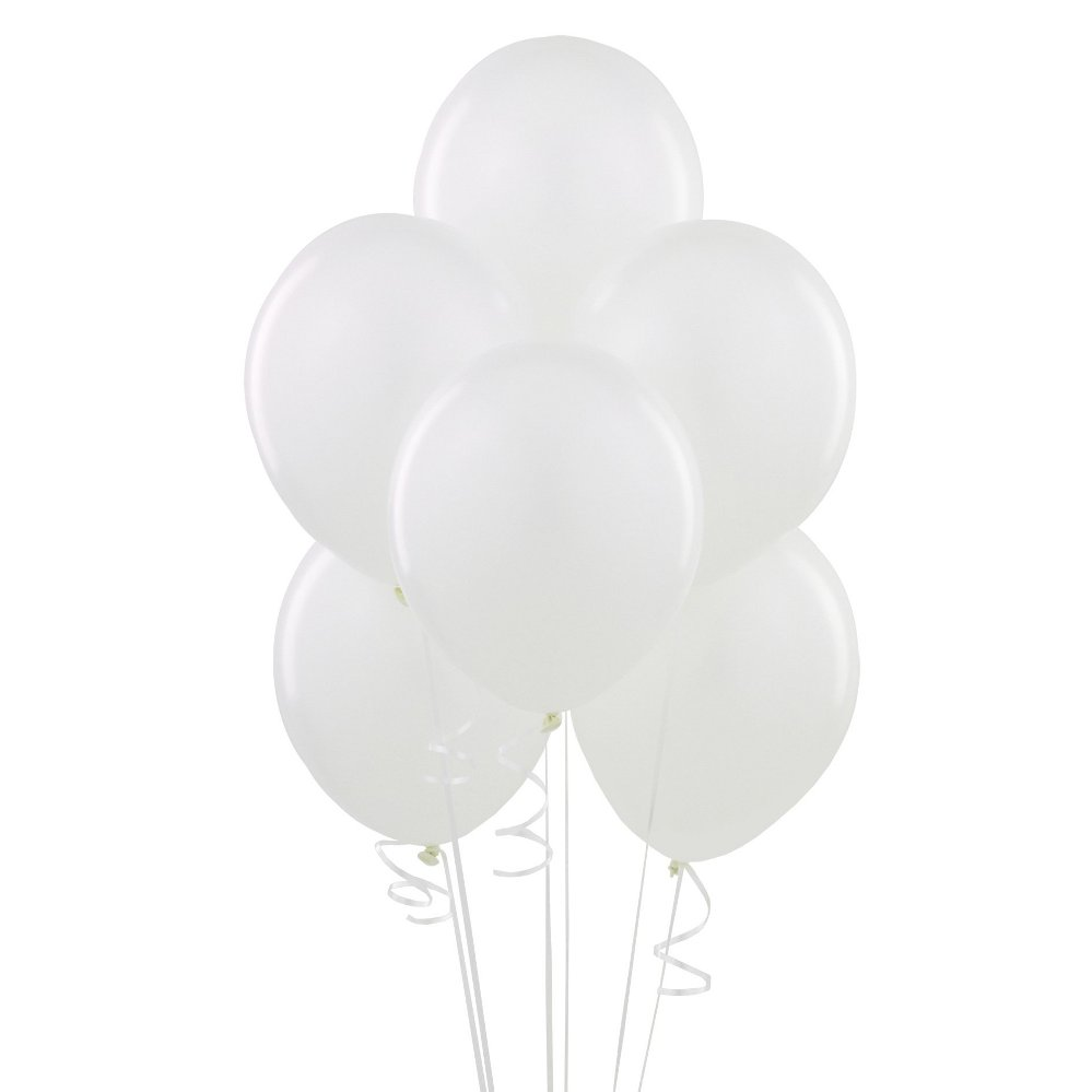 Latex Balloons, 12 in, White, 10ct