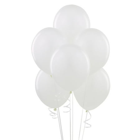 Latex Balloons, 12 in, White, 10ct - White Baloons