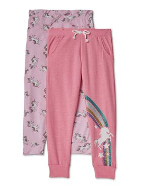 Love Republic Girls 7-16 Solid and Printed 2-Pack Joggers
