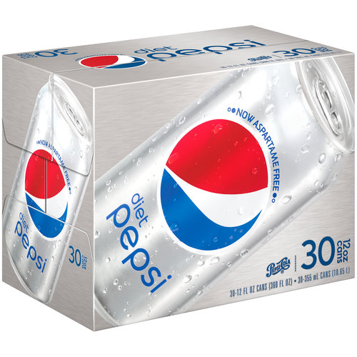 Diet Pepsi Cola, 12 fl oz, 30 pack