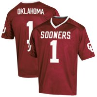 Youth Russell Athletic Crimson Oklahoma Sooners Replica Football Jersey