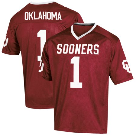 Storm Football Jersey - Youth Russell Crimson Oklahoma Sooners Replica Football Jersey