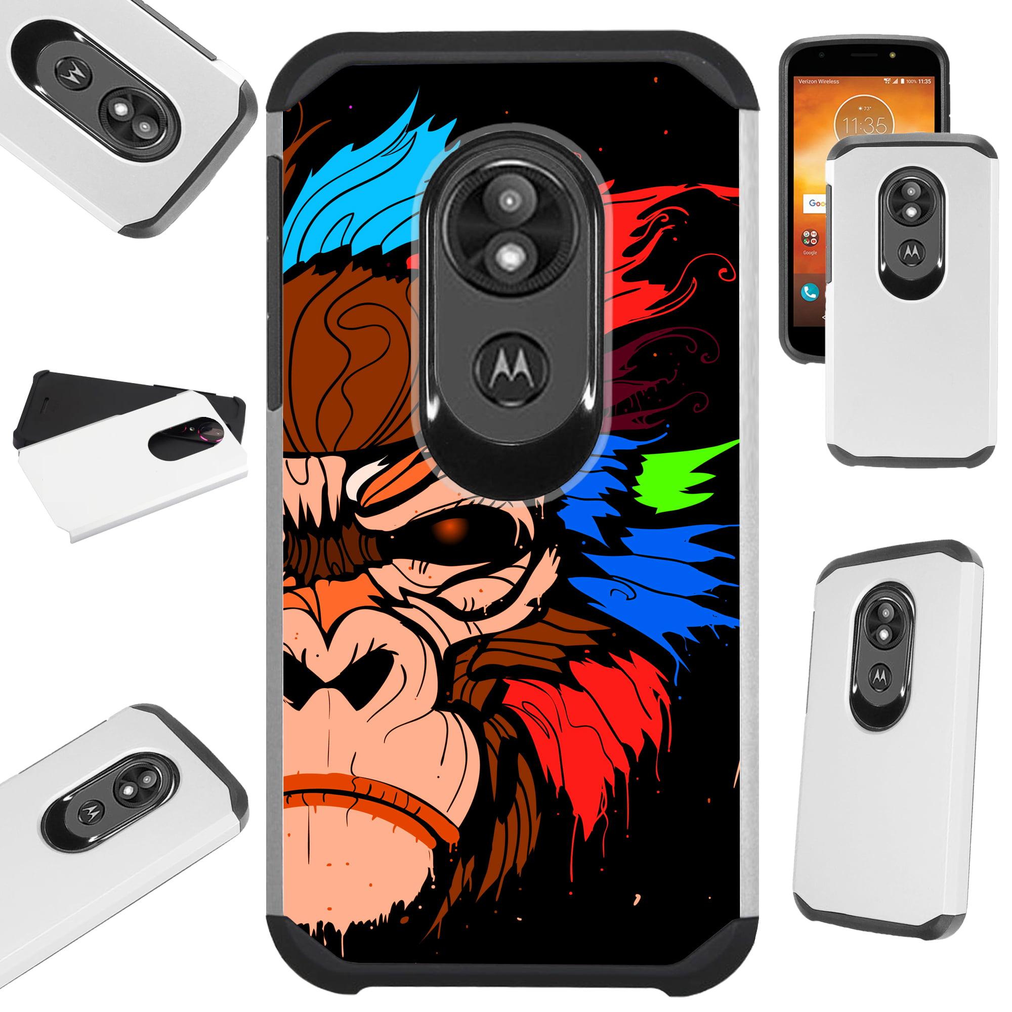 For Motorola Moto E5 Play | Moto E5 Cruise Case Hybrid TPU Fusion Phone Cover (Gorilla Brown)