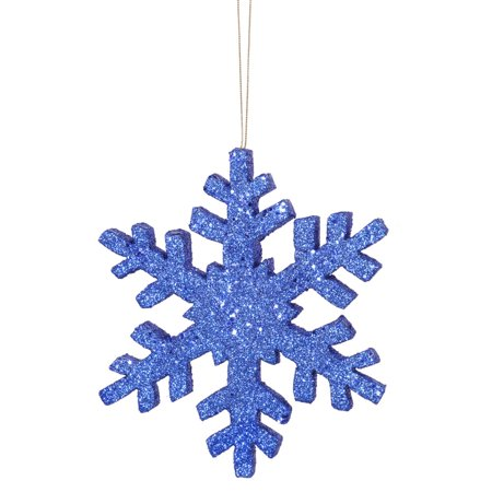 36 blue glitter indooroutdoor commercial snowflake christmas ornament