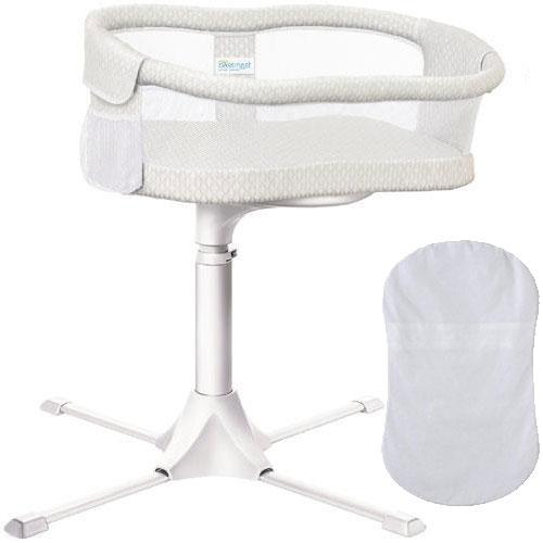 Halo Swivel Sleeper Bassinet Essentia Series -Honeycomb with 100 Cotton Fi by Halo