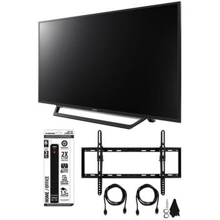sony kdl 55w650d 55 inch full hd 1080p tv with built in wi fi tilt wall mount bundle. Black Bedroom Furniture Sets. Home Design Ideas