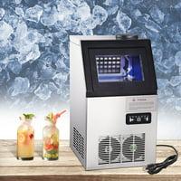 Yescom 100 Lbs Commercial Ice Maker Portable Freestanding Ice Cube Maker Machine for Restaurants Home Supermarkets
