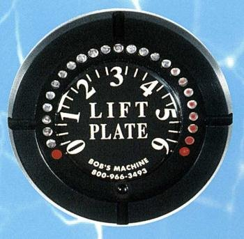 Bob's Machine Shop Standard/Extreme/Mini Series Jack Plate Lift Gauge (White w/ SS Bezel)