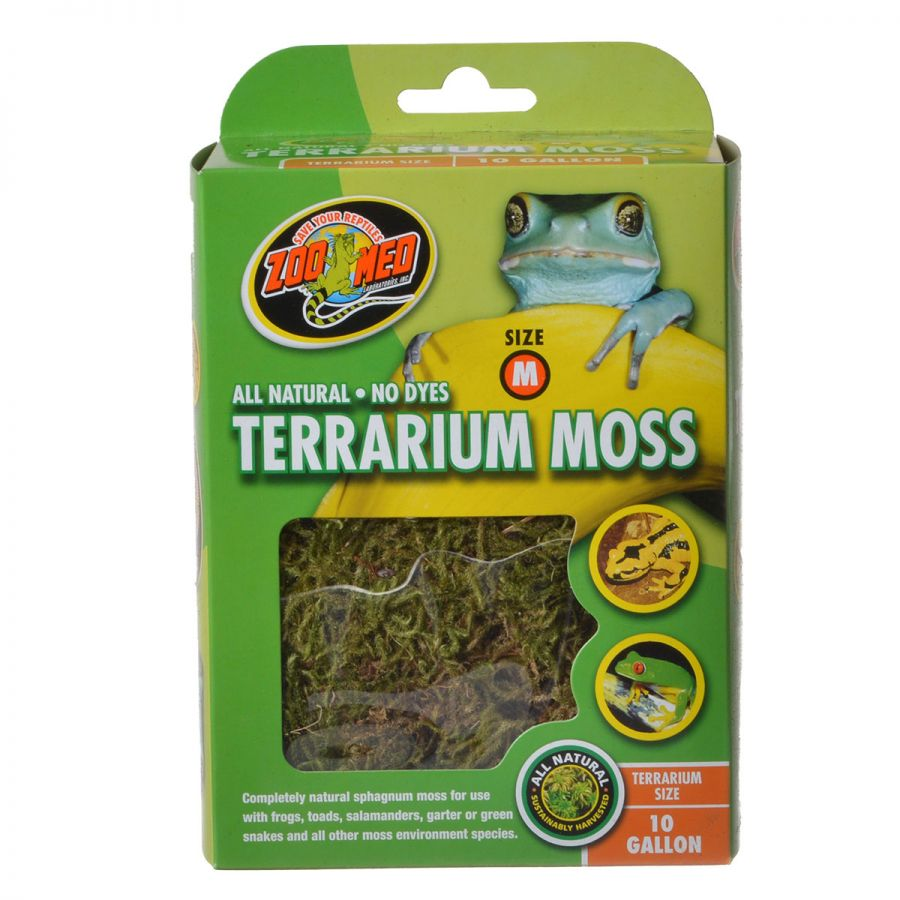 Zoo Med All Natural Terrarium Moss 10 Gallons Pack of 3 by