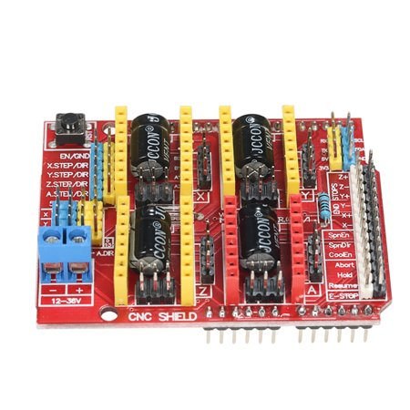 CNC Shield Expansion Board for V3 Engraver + 4pcs A4988 Stepper Motor Driver Module with Heat Sink for Arduino 3D