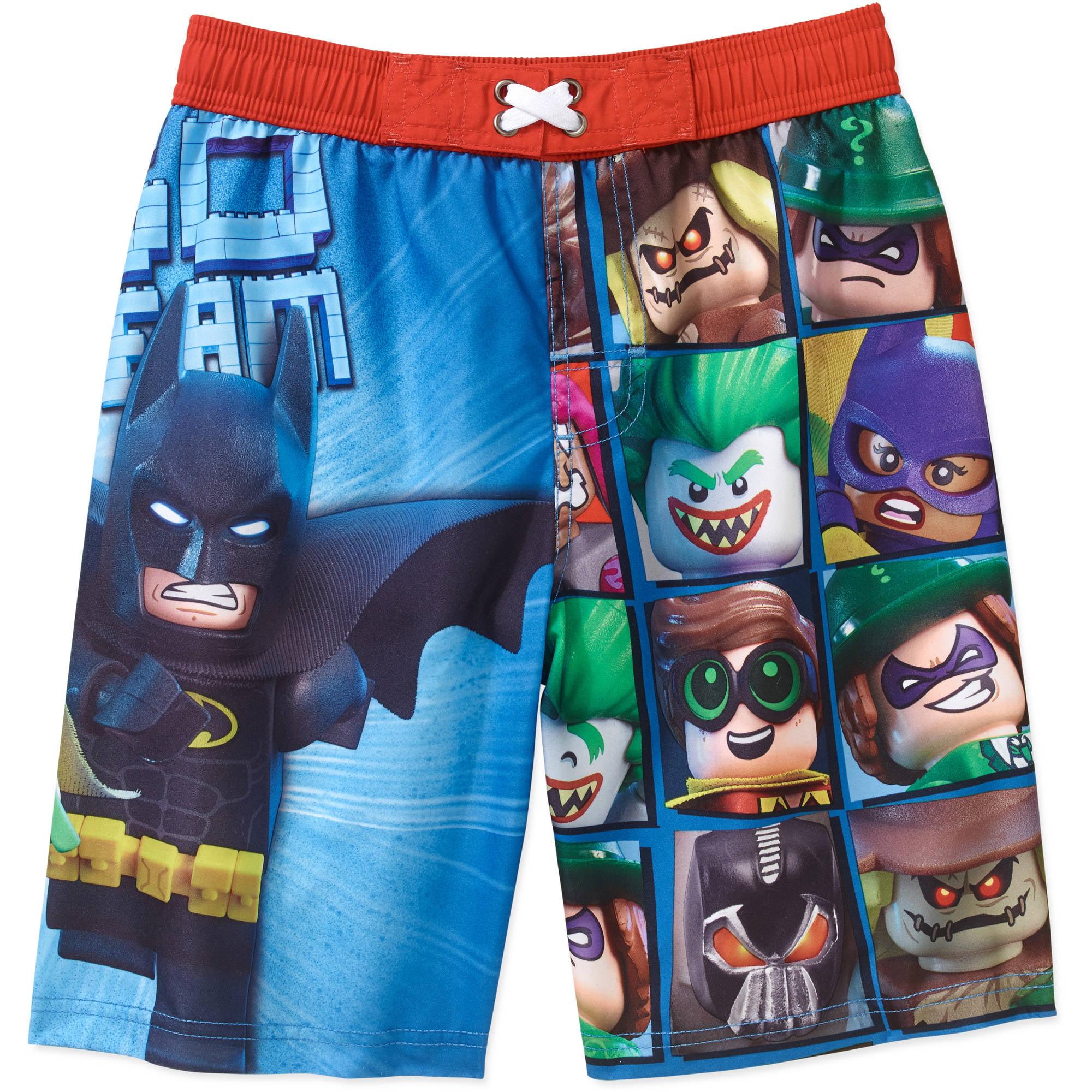 a04fef33419cd LEGO - Batman Boys' Swim Shorts - Walmart.com