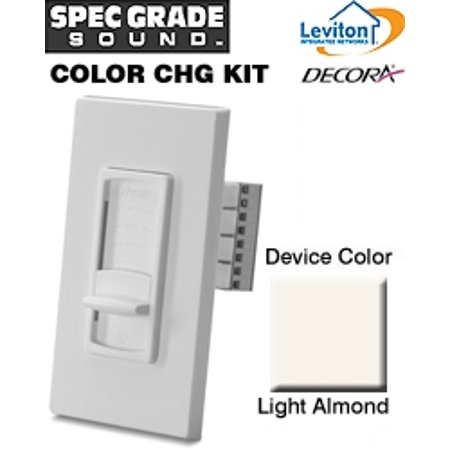 Leviton SGVCK-LA Color Change Kit for Decora Volume Controls SGVSM and SGVST - Light Almond