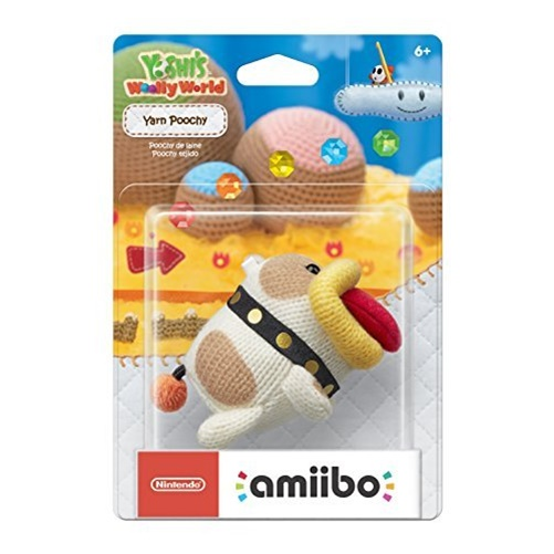 Nintendo Yarn Poochy amiibo Collectable Wii U by Nintendo