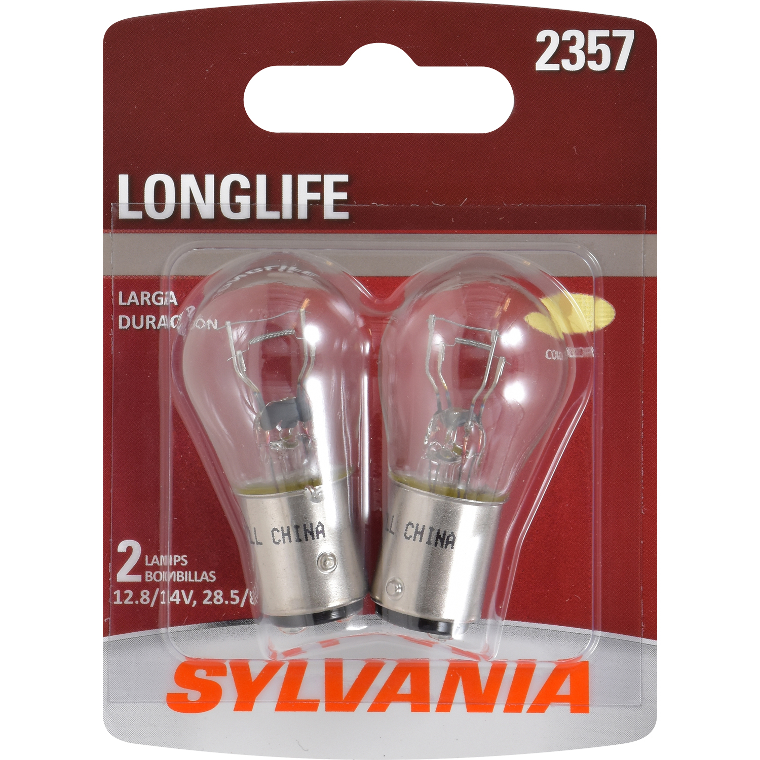 SYLVANIA 2357 Long Life Mini Bulb, Pack of 2
