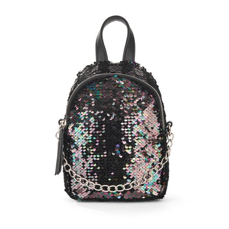 No Boundaries Oil Slick Sequins Micro Backpack