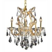 PWG Lighting - Lighting By Pecaso 2381D20G-RC Karla Heirloom Handcut Crystal Chandelier, Gold