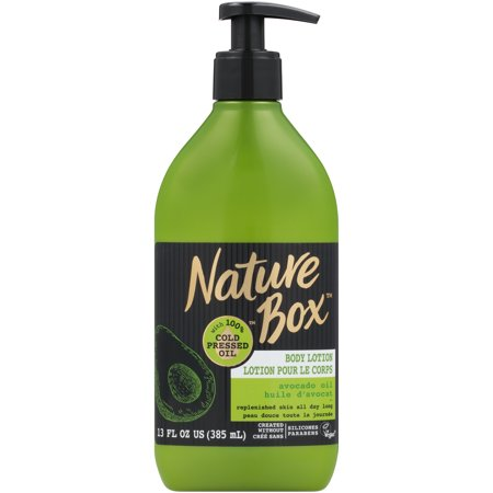 Nature Box Body Lotion - for Replenished Skin, with 100% Cold Pressed Avocado Oil, 13 (Best Clothes For Pear Shaped Body)