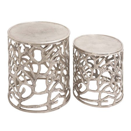 Cole Grey Stool Set Aluminum