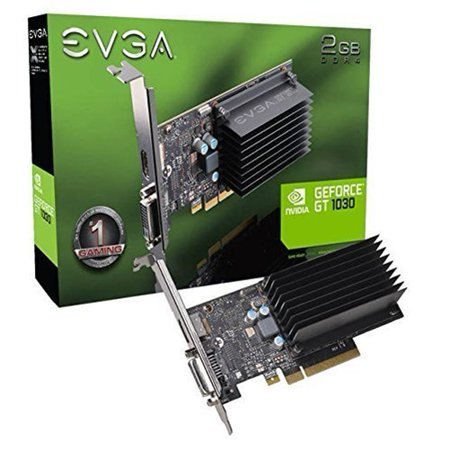 EVGA GeForce GT 1030 2GB SDDR4 Low-Profile Graphics Card - Geforce 6200le Graphics Card