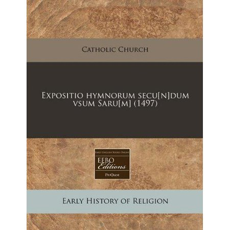 Expositio Hymnorum Secu N Dum Vsum Saru M   1497