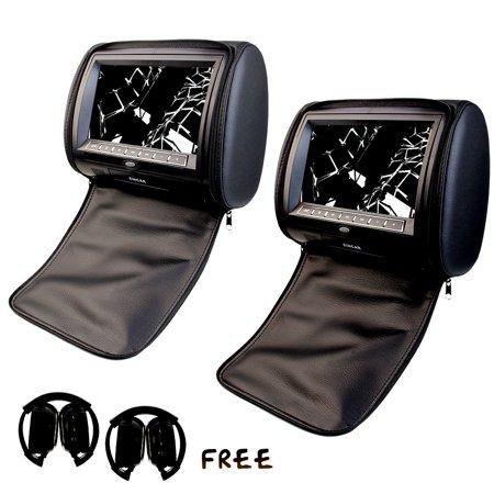 Eincar Headrest 2 pcs 9 inch LCD Screen Digital Car Monitor DVD player Built