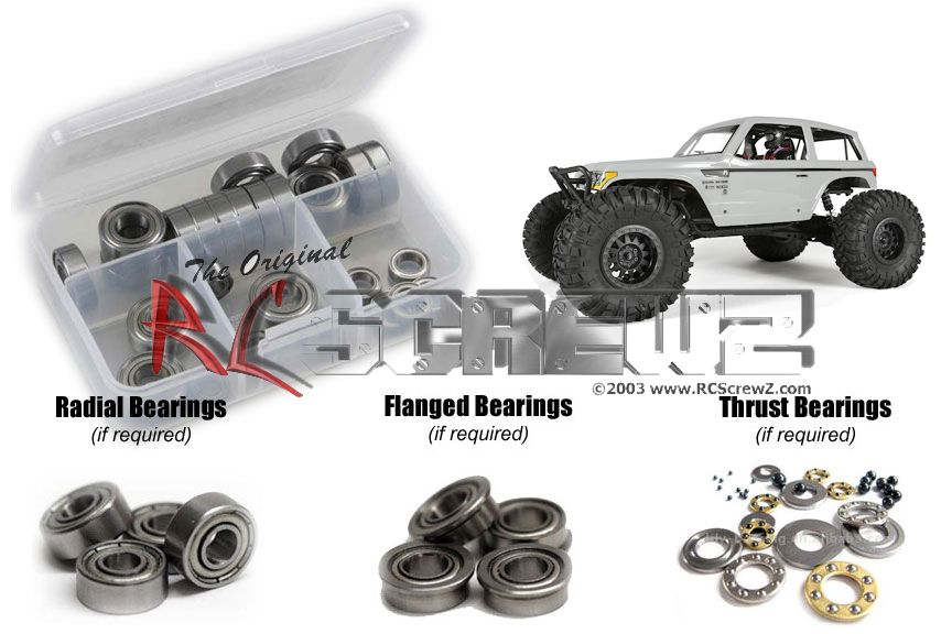 RCScrewZ Axial Wraith Spawn 4wd Metal Shielded Bearing Kit #axi018b by RCScrewZ