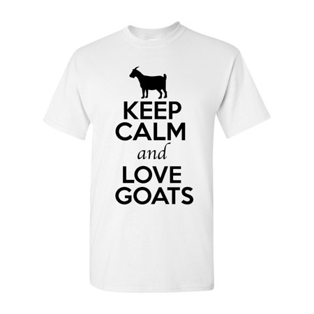 Red Goat (Keep Calm And Love Goat Animal Lover Adult T-Shirt Tee )