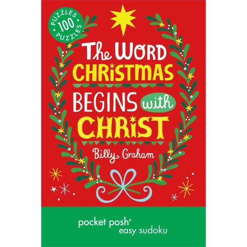 Pocket Posh Christmas Easy Sudoku 2: 100 Puzzles, The Word Christmas Begins With Christ