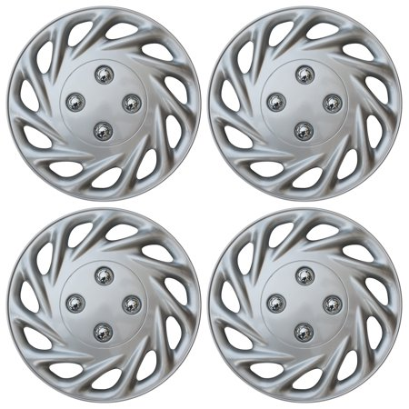 Hub Wheelset (BRAND NEW 4 PC Set ABS Silver Fits 13