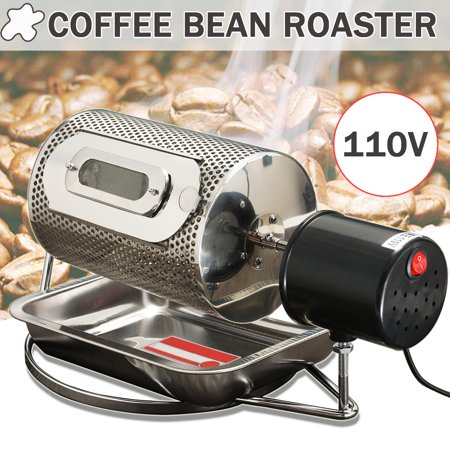 Stainless Steel Electric Espresso Coffee Bean Baking Roaster Baker Machine Roasting With Tray