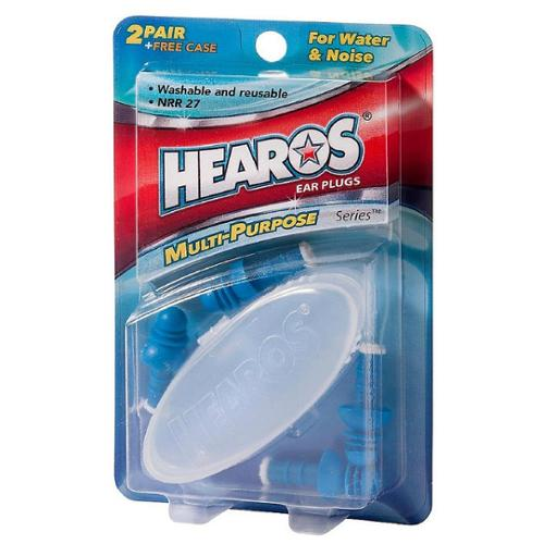 Hearos Multi-Purpose Series Ear Plugs 2 Pair + Free Case 1 ea (Pack of 6)
