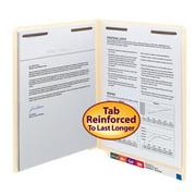 Smead End Tab Fastener Folders 2-Ply Tabs Manila 50/BX Letter (34115)