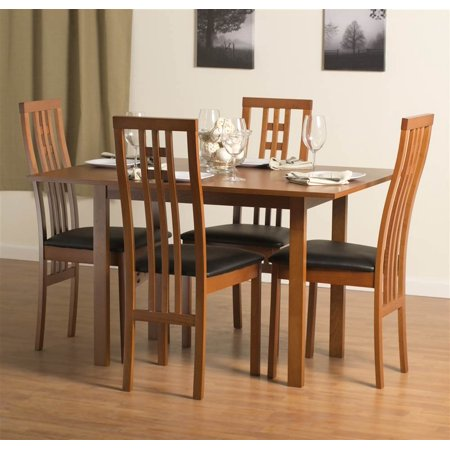 Flex Extendable Table Set with District-2 Chairs in Cherry