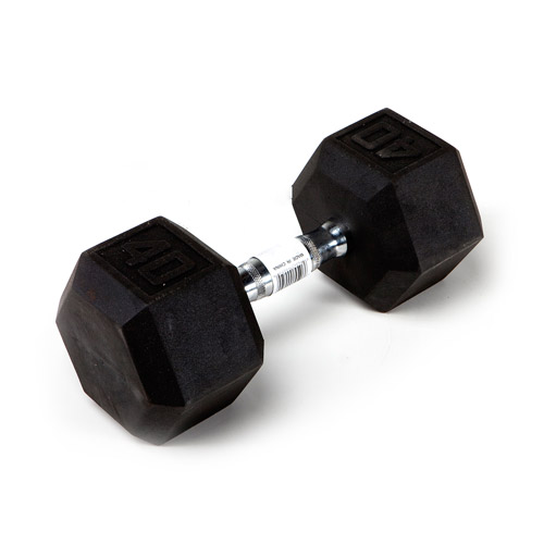Marcy 40 lb EcoWeight Rubber Hex Dumbbell: IBRH-040  - Sold Individually