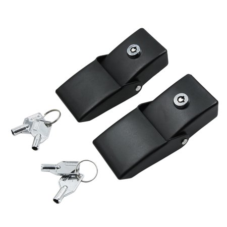 Jeep Wrangler Hood Lock (2pcs Hood Catch Latch Lock Auto Car Engine Bonnet Black for Jeep Wrangler w/ Key)