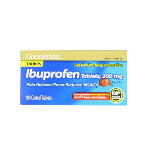 Good Sense Ibuprofen Pain Reliever/Fever Reducer Tablets 200 mg 100 ea (Pack of 3)