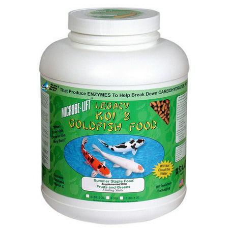 Microbe-Lift Legacy Fruits & Greens Koi Food  4 lbs  8 oz  MLLFGLG