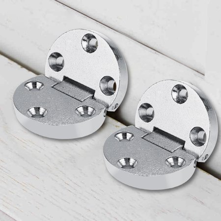 Zerone 2Pcs Zinc Alloy Self-Supporting Folding Table Hinges Home Flap Tables Furniture Oval Hardware , Folding Table