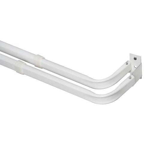 Mainstays Heavy-Duty Double Curtain Rod, White by
