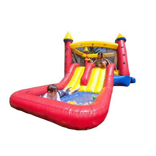 JumpOrange Kiddo Jump 'N' Water Slide Fun House