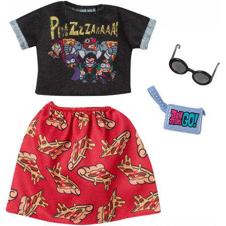 Barbie Complete Looks Teen Titans Go! Pizza Print Fashion Pack