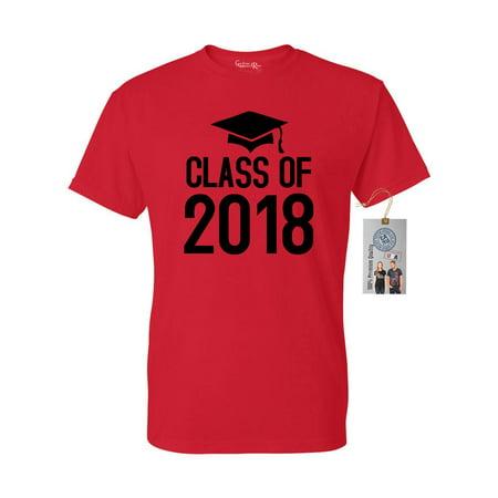 Class of 2018 Senior High School College Mens Womens T-Shirt Top](Halloween Ideas For High School Seniors)