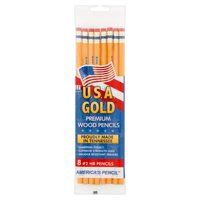 Write Dudes U.S.A. Gold #2 HB Premium Wood Pencils, 8 count