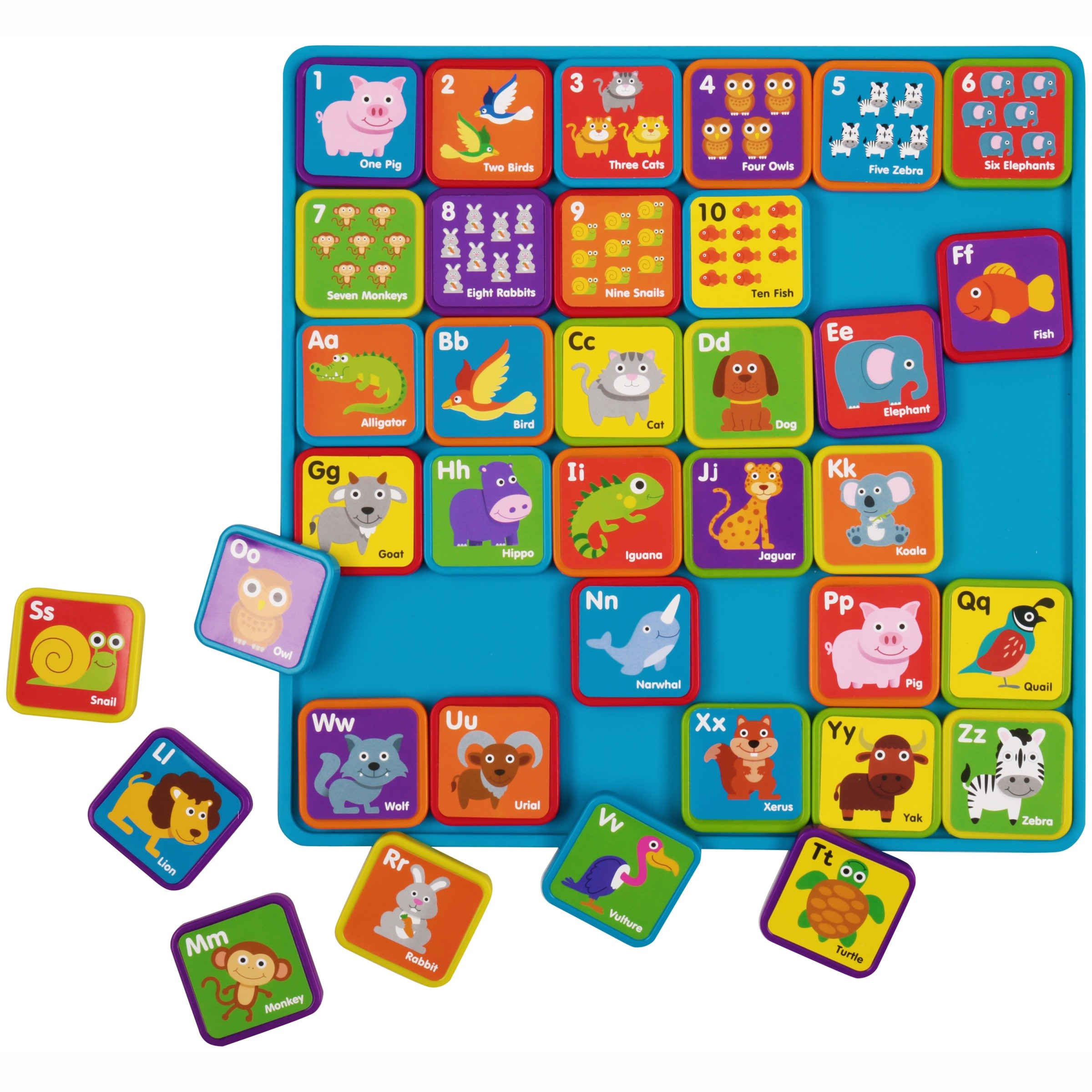 Spark. create. imagine. 37-piece learning magnets, animals