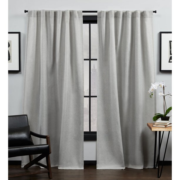 MoDRN Industrial Basketweave Curtain Pair - Set of 2