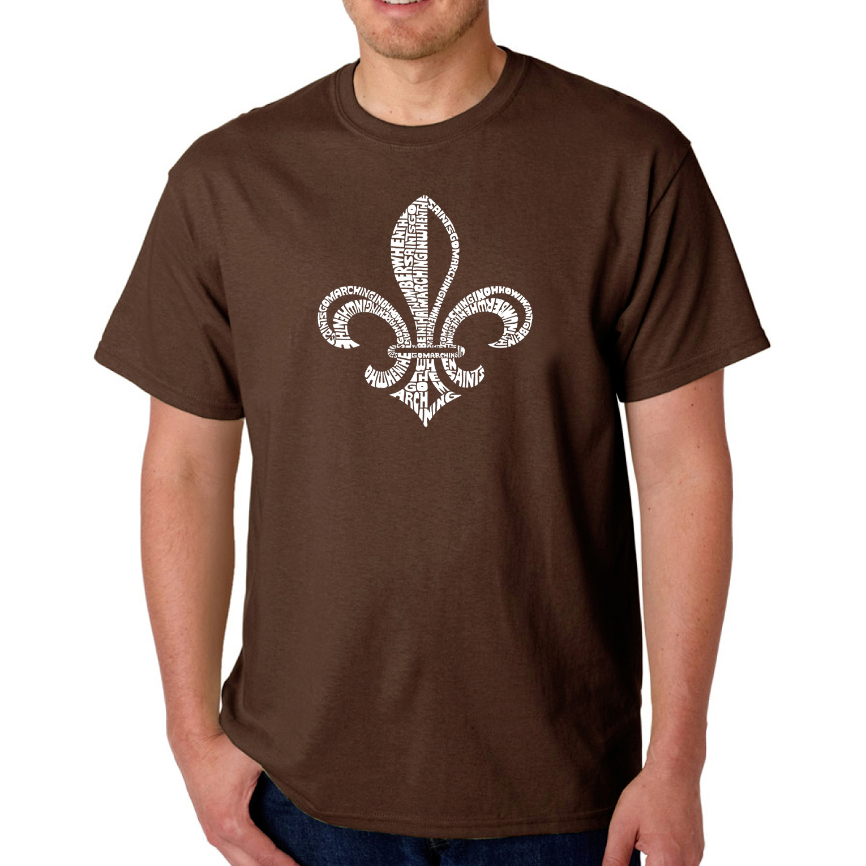 Los Angeles Pop Art Men's T-Shirt - Lyrics To When The Saints Go Marching In
