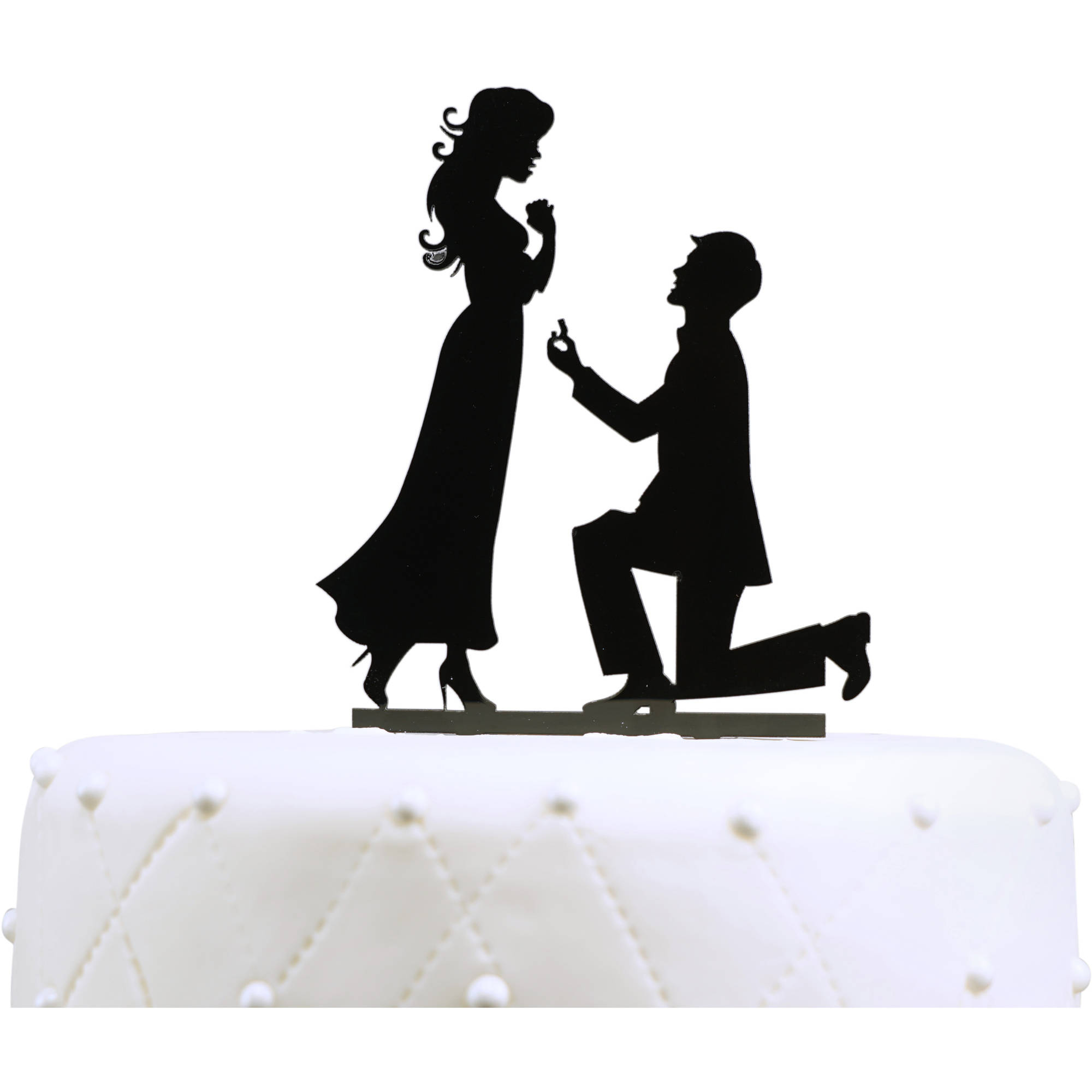 """Unik Occasions """"Will You Marry Me"""" Engagement Acrylic Cake Topper"""