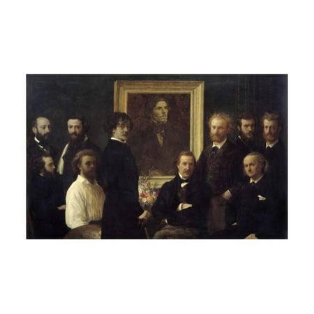 - Tribute to Eugene Delacroix. Painting by Henri Fantin Latour Print Wall Art