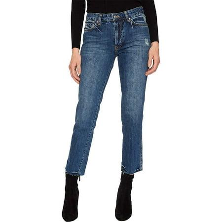Free People Womens Slim Boyfriend Jeans (Blue, 30)